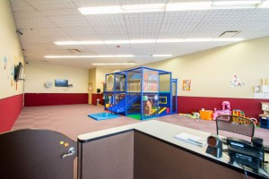 Prestige Fitness Centennial has a spacious child care center.