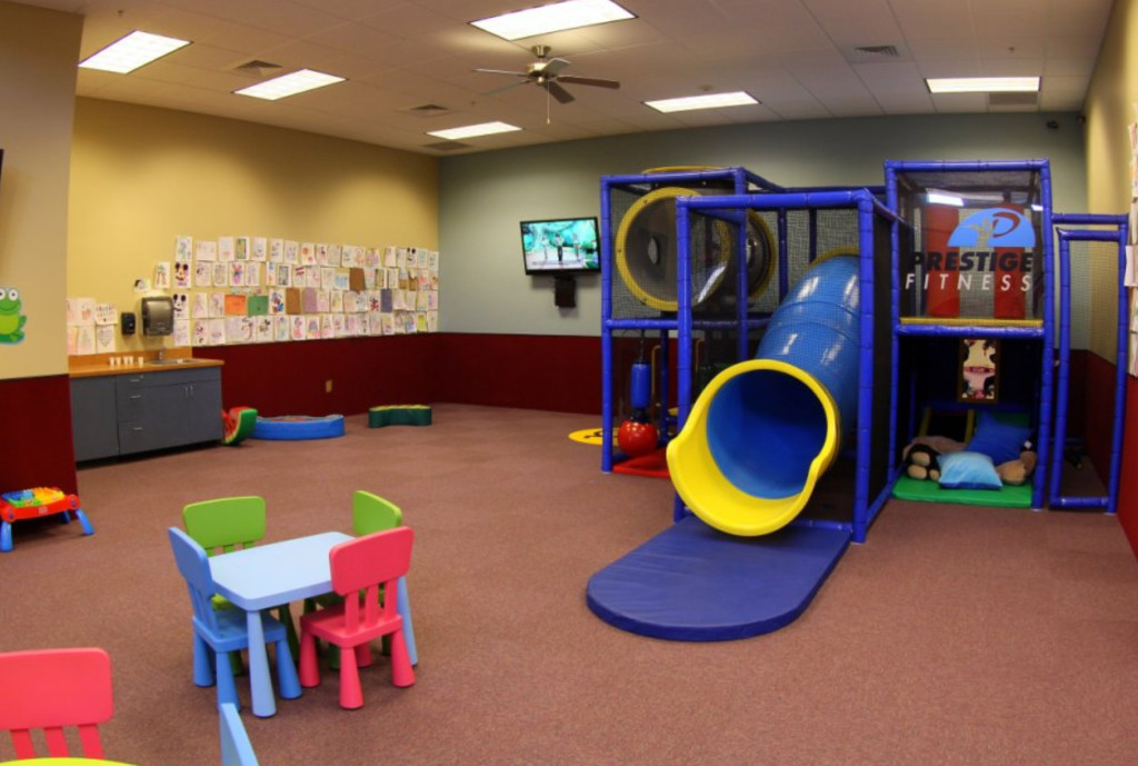 Prestige Fitness Arvada has a spacious child care center in the Kids Club 34e4c2d0ce936